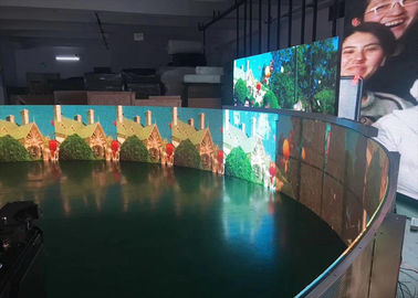 China Transparent Flexible Full Color LED Screen 32748 dots/㎡ Pixel density supplier