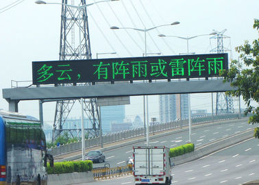China Fixed Electronic Full Color Video Advertising LED Traffic Signs Brightness ≥6000 cd/sqm supplier