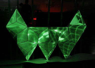 China KTV Irregular LED display shocking effect indoor led screen W-shaped supplier