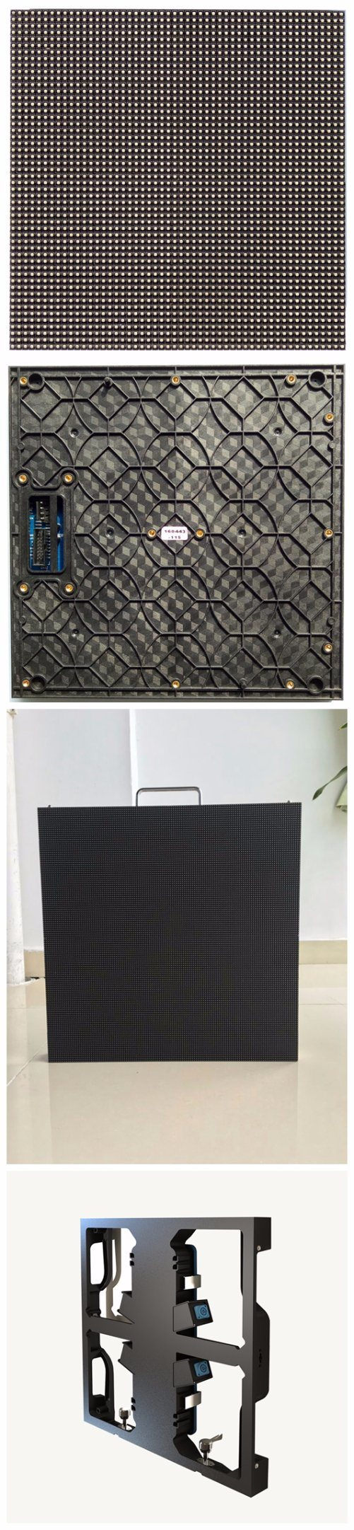 4.81mm Pitch Indoor Full Color LED Display 52x52 dot Module Resolution For Stage